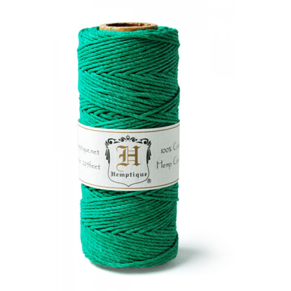 Hemp Twine - Emerald Green