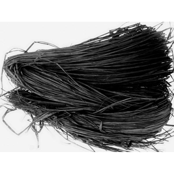 Raffia - Coloured 250gm (Black)