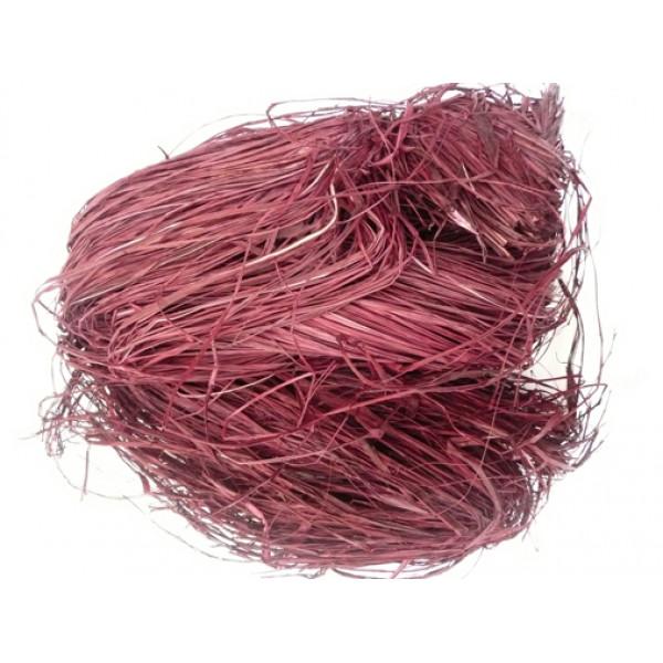 Raffia - Coloured 250gm (Burgundy)