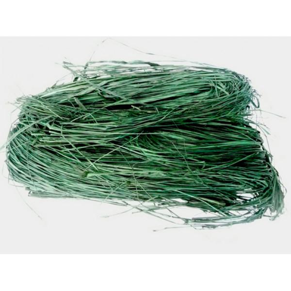 Raffia - Coloured 250gm (Dark Green)