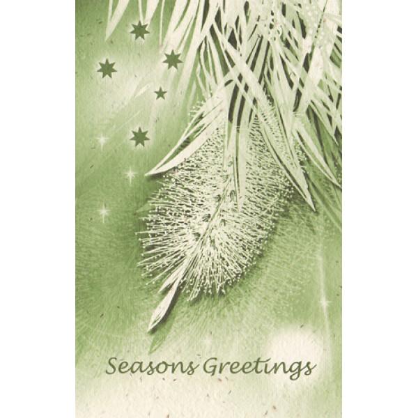 Seeded Recycled Christmas Card (Weeping Bottlebrus...