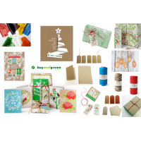 Recycled Christmas wrap, paper, cards and more